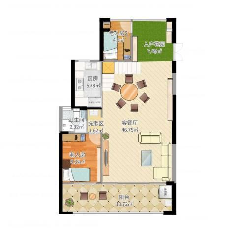 熙和园1室1厅1卫1厨110.00㎡户型图
