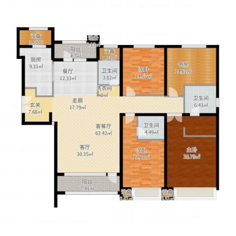 亿城堂庭4室1厅3卫1厨251.00㎡户型图