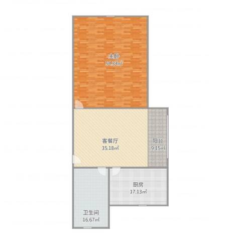 凌云新村4.6031室1厅1卫1厨172.00㎡户型图
