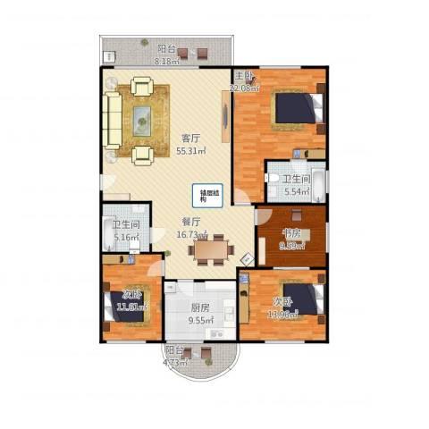 禾祥商城4室1厅2卫1厨194.00㎡户型图