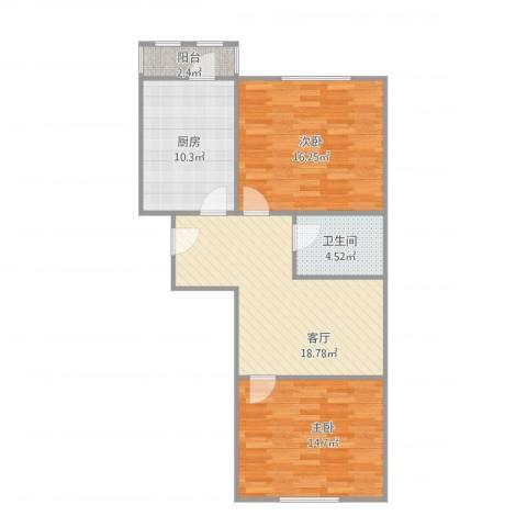 建姜东里1-3-5042室1厅1卫1厨90.00㎡户型图