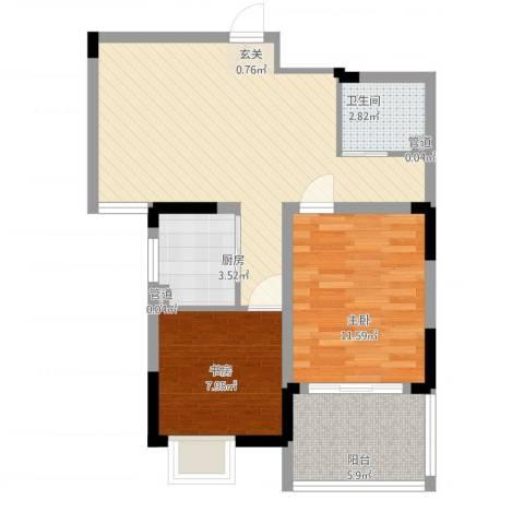 苹果乐园2室1厅1卫1厨79.00㎡户型图