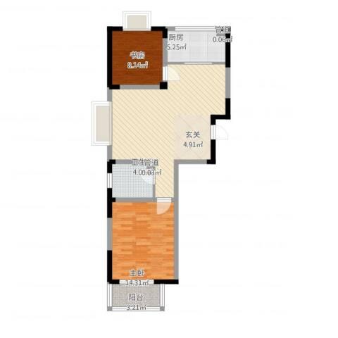 苹果乐园2室1厅1卫1厨91.00㎡户型图
