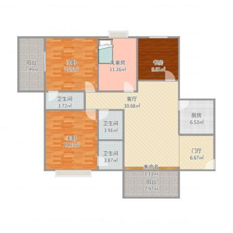 大唐盛世4室1厅4卫1厨167.00㎡户型图