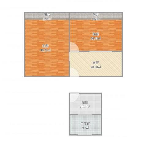 船舶新村2室1厅1卫1厨122.98㎡户型图