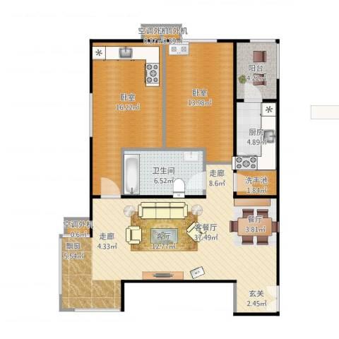 时代绿荫2室1厅4卫2厨117.00㎡户型图