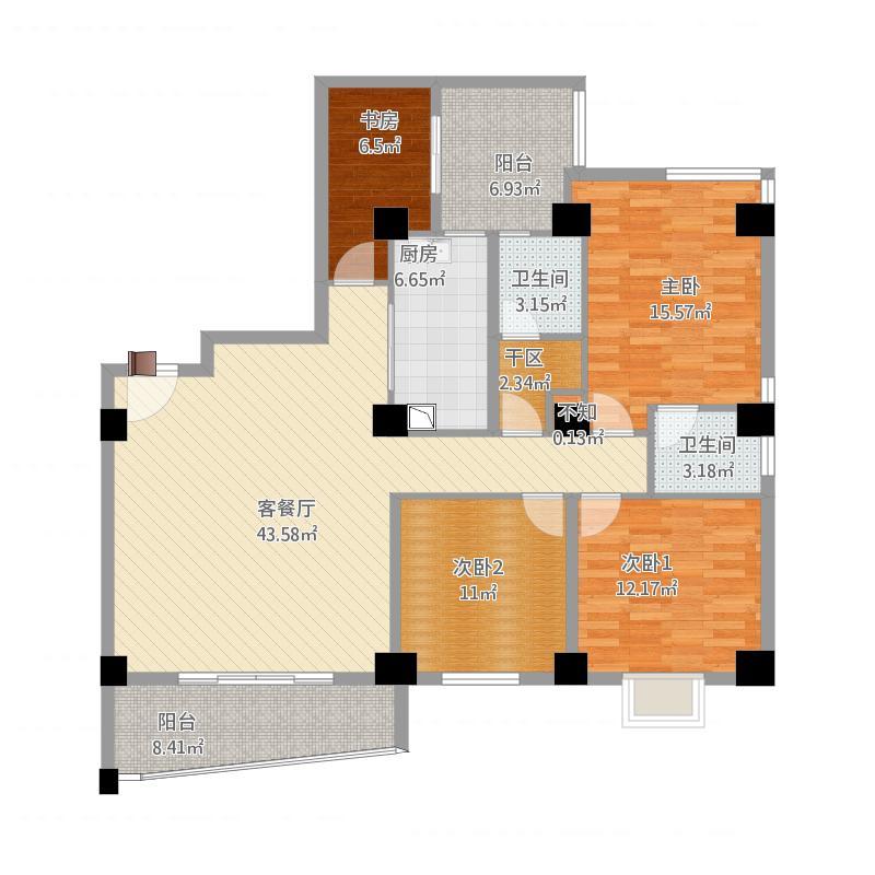 水岸人家3室2厅