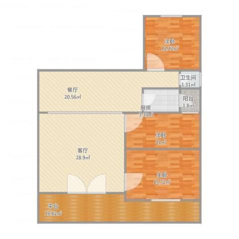 名苑华庭1053室2厅1卫1厨150.00㎡户型图
