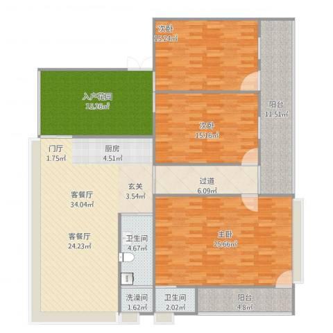 自建房3室1厅4卫1厨182.00㎡户型图
