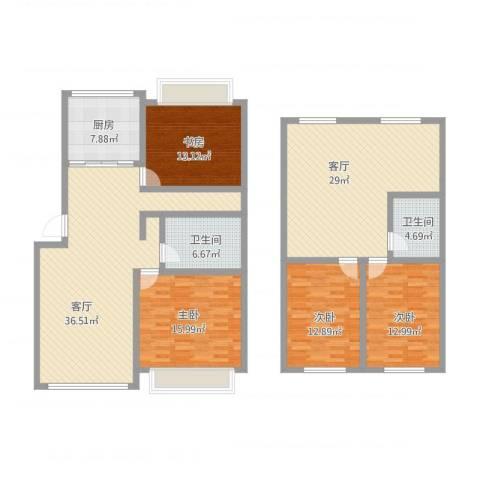 海源府第4室2厅2卫1厨198.00㎡户型图