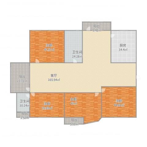 幸福E家四期4室1厅2卫1厨579.00㎡户型图