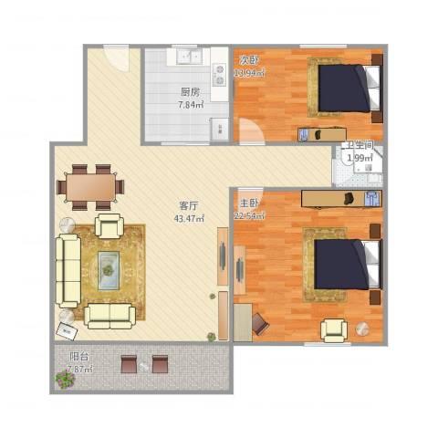 思东商厦c户2室1厅1卫1厨130.00㎡户型图