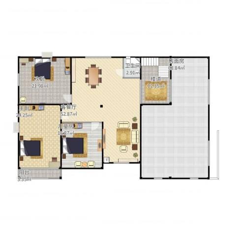 振华别墅3室1厅1卫2厨258.00㎡户型图