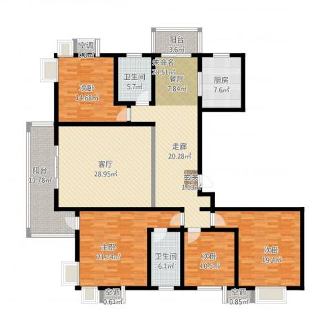 广厦水岸东方4室1厅2卫1厨231.00㎡户型图