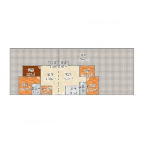 美心翡翠明庭4室1厅2卫1厨594.00㎡户型图