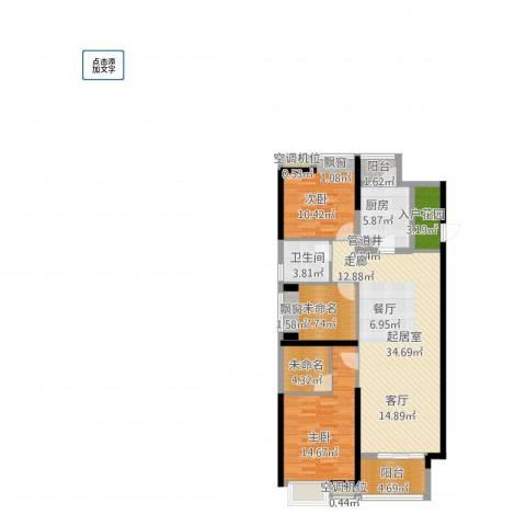 东莞厚街万达广场2室1厅6卫1厨132.00㎡户型图