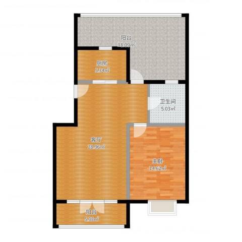 天一海馨园1室1厅1卫1厨108.00㎡户型图