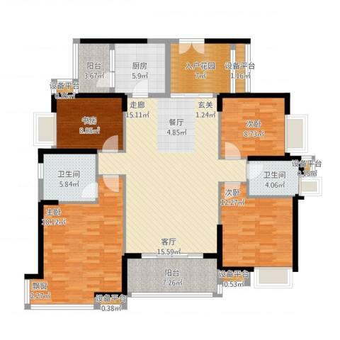 紫园3室1厅2卫1厨175.00㎡户型图