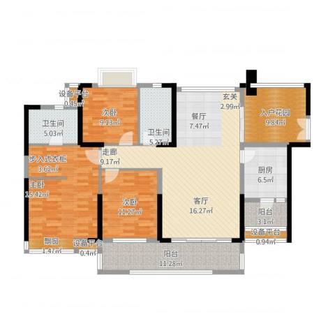 紫园2室1厅2卫1厨171.00㎡户型图