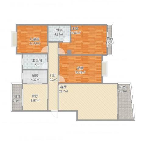 江南春晓3室2厅2卫1厨159.00㎡户型图