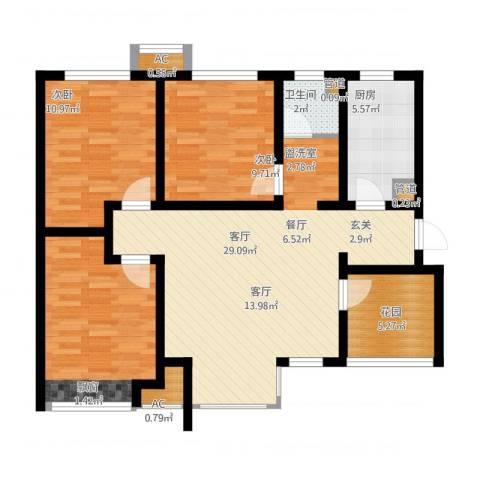 月珑湾3室1厅4卫3厨112.00㎡户型图