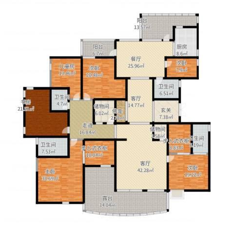自在山6室3厅4卫1厨480.00㎡户型图