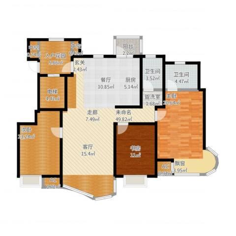经纬城市绿洲滨海4室1厅5卫1厨166.00㎡户型图