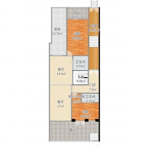 太湖纯水岸别墅2室2厅2卫1厨185.00㎡户型图