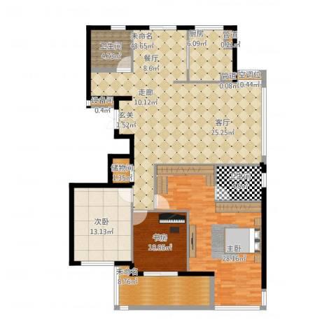 盛世香园3室2厅5卫2厨178.00㎡户型图
