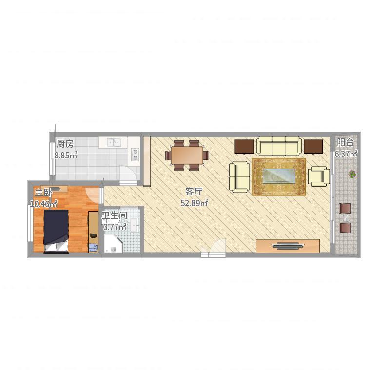 复式客厅平面图