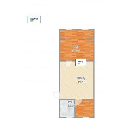 永丰巷1室1厅1卫1厨58.00㎡户型图