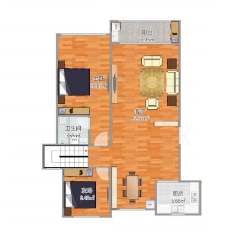 溪湖春天11栋2单元1012室1厅1卫1厨131.00㎡户型图