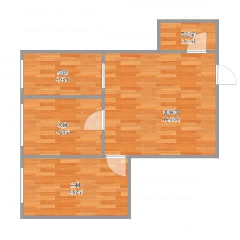 西苑小区2室1厅1卫1厨59.00㎡户型图