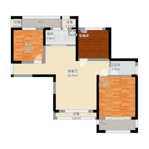 宝信润山3室1厅5卫1厨119.00㎡户型图