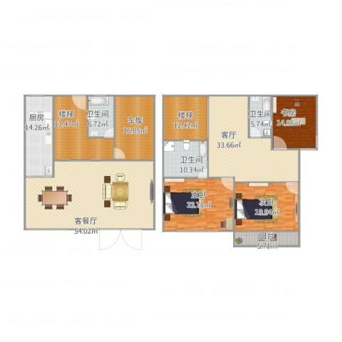 金城绿苑3室2厅3卫1厨311.00㎡户型图