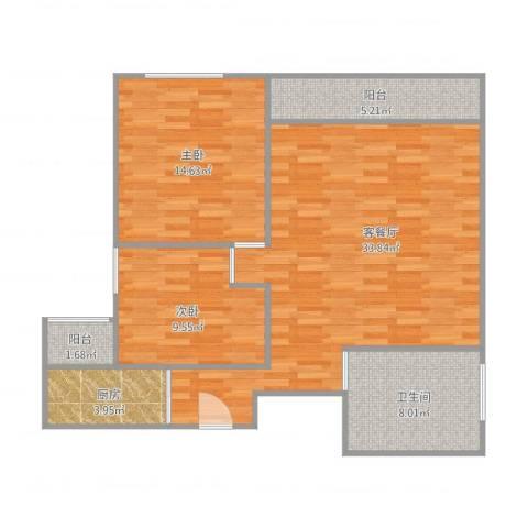 汇星豪庭26栋8022室1厅1卫1厨104.00㎡户型图