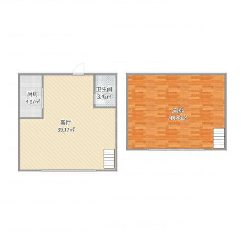 江南春城B区1室1厅1卫1厨112.00㎡户型图