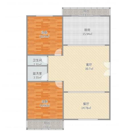 首府136栋2室3厅1卫1厨143.00㎡户型图