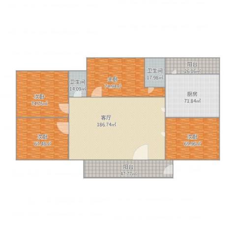 荣兴楼4室1厅2卫1厨839.00㎡户型图