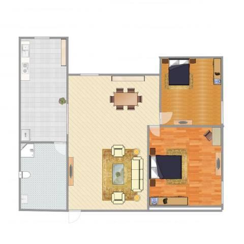 两江嘉苑11-41室1厅1卫1厨159.00㎡户型图