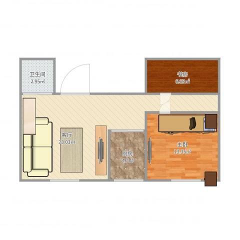 玉兰小区2室1厅1卫1厨75.00㎡户型图