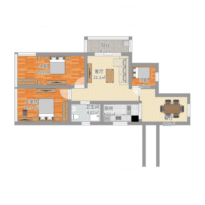 江南美墅30幢-90平米商品房