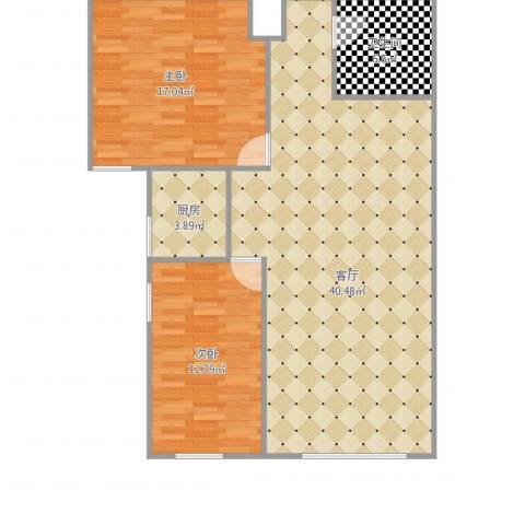 海旺家园2室1厅1卫1厨106.00㎡户型图