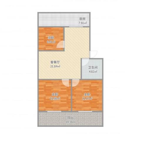 小康人家3室1厅1卫1厨101.00㎡户型图