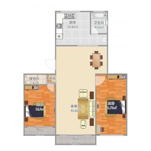 培花久远公寓2室1厅1卫1厨150.00㎡户型图