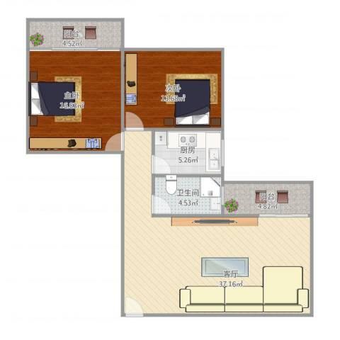 嘉尚国际公寓89好02户型图