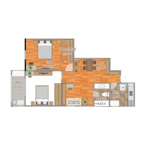 沙塘园1室1厅1卫1厨89.00㎡户型图