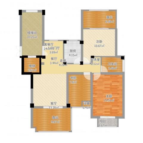 金上海湾3室1厅1卫1厨139.00㎡户型图