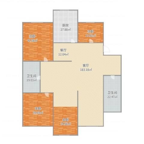 红梅小区3室1厅2卫1厨450.00㎡户型图