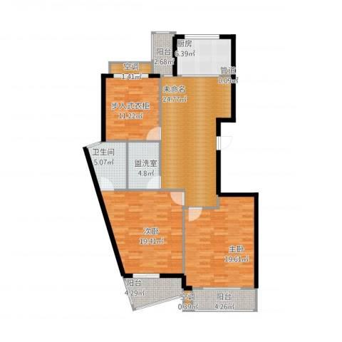 东方汇景苑2室1厅5卫1厨145.00㎡户型图